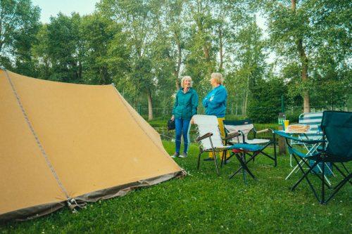 Kampereen alleen of in groep in een tent op onze trekkersweide!