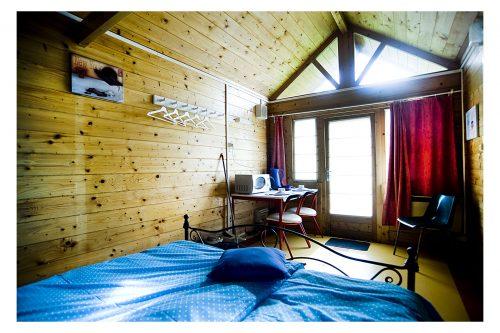 Luxe trekkershut voor camping verblijf met 2 personen, bv. koppel - Camping Groeneveld